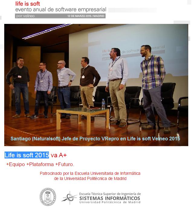 Santiago en Life is Soft 2015 (Velneo) nuestro congreso tecnológico